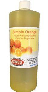 Simple Orange Ultrasonic Cleaner Solution